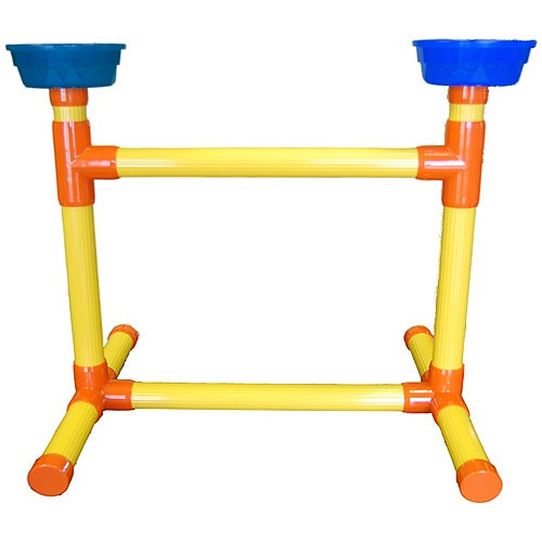 Portable Macaw Playstand with Feeders