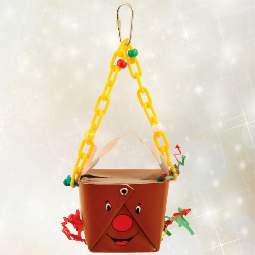 Reindeer Foraging Goodie Box Parrot Toy