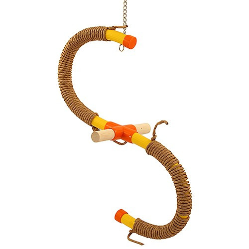 Swinging `S` Parrot Perch Medium & Paper Rope Refill