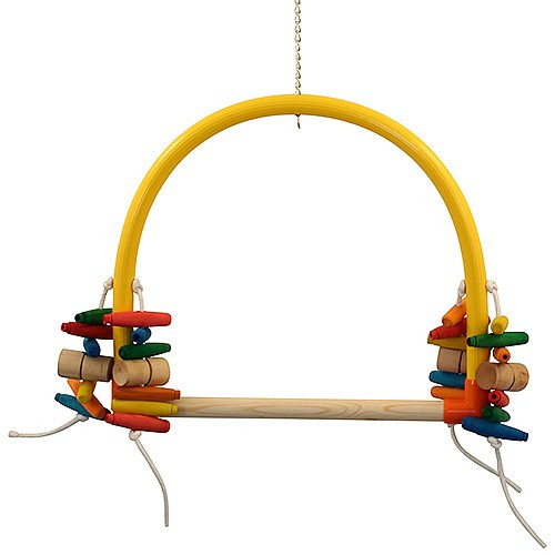 Arched Parrot Perch Play Swing - Giant