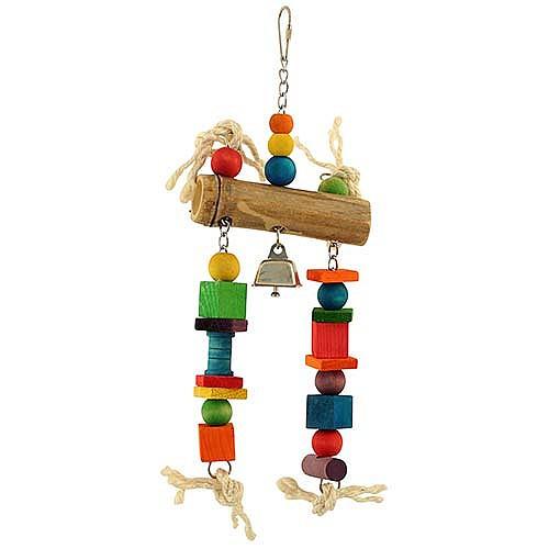 Bamboo Log Parrot Toy - Medium