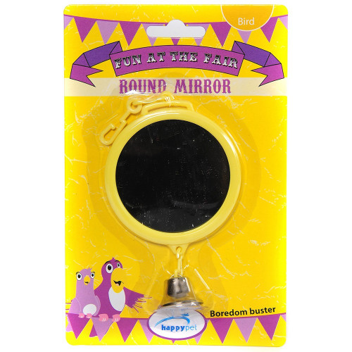 Round Mirror Parrot Toy - Small