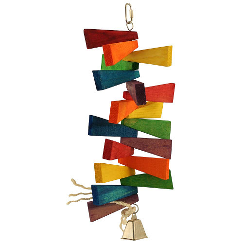 Blocks and Bell Stacker Parrot Toy