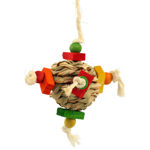 Hay Ball Chewable Parrot Toy