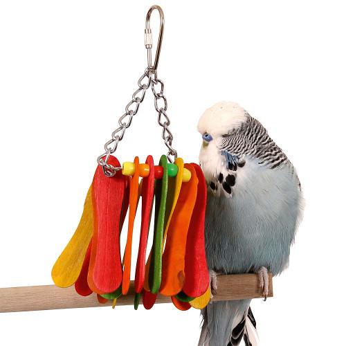 Hanging Paddles Parrot Toy