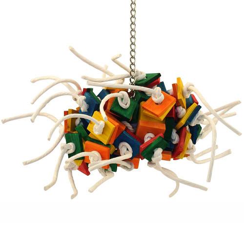 Supernova Wood & Rope Parrot Toy - Medium