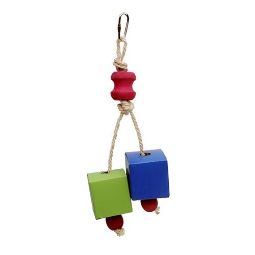 Festive Favors, Rope, Wood & Paper Parrot Toy - 20 cm