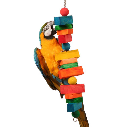 Big Foot Chunky Wood Parrot Toy