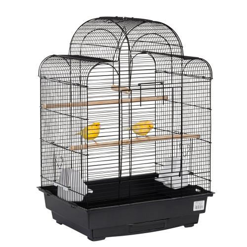 Pagoda Small Parrots & Bird Cage in Black