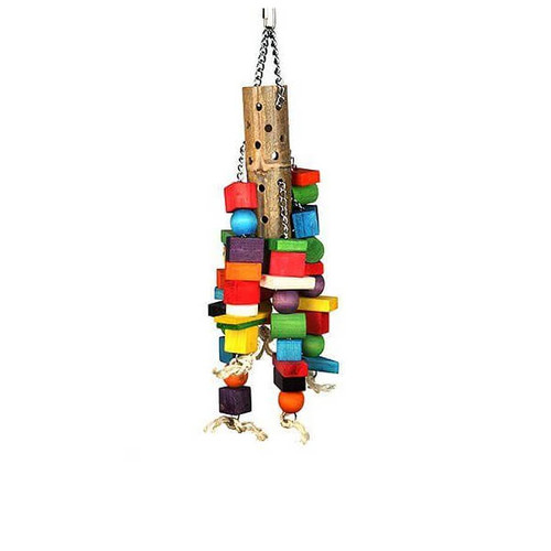 Bamboo Barrel Supersized Parrot Toy