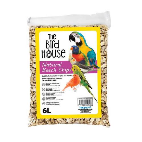 Bird Beech Chips Coarse Parrot or Bird Cage Bedding - 6L