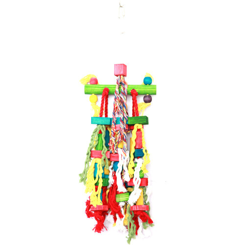 Mish Mash Wood & Rope Parrot Toy