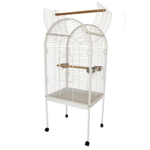 Lazy Bones Open Top White Parrot Cage