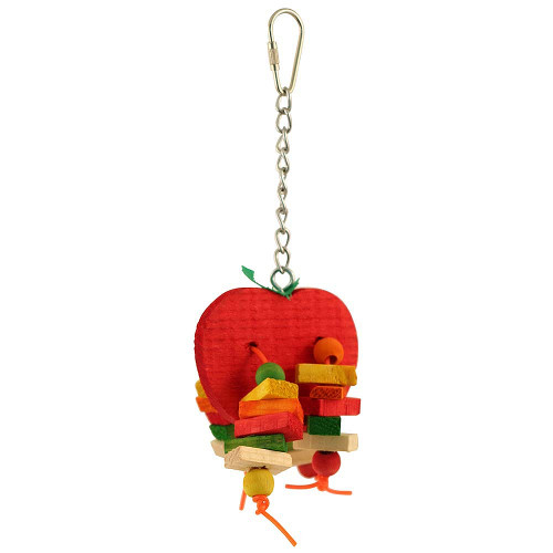 Apple Chewable Small Parrot Toy