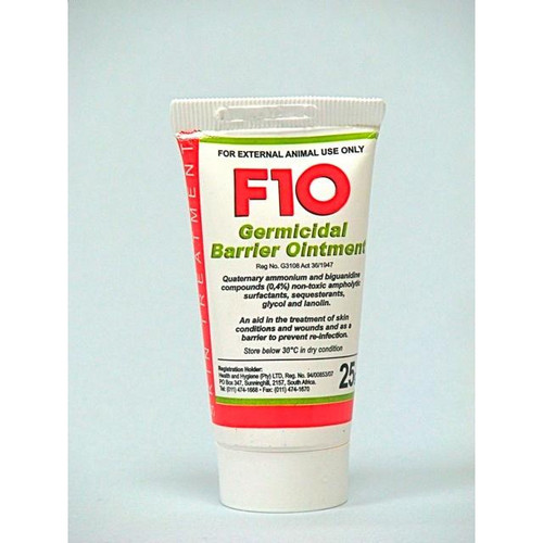 F10 Germicidal Barrier Ointment - 25g tubes