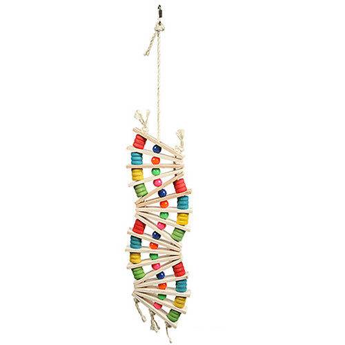 Rainbow Wave Swing & Climb Parrot Toy