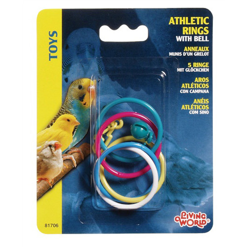 Athletic Rings with Bell Parrot Toy