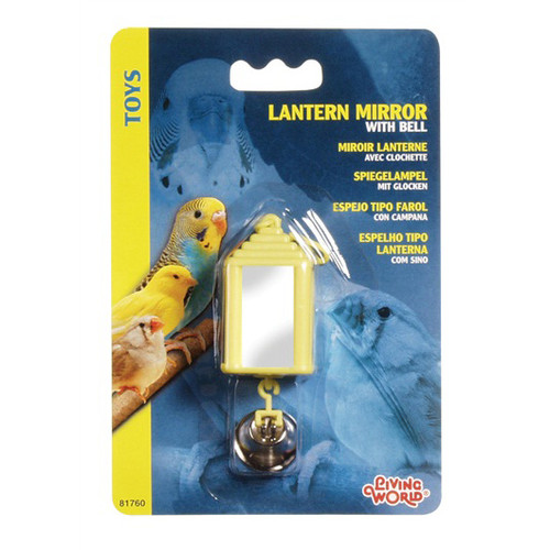 Lantern Mirror with Bell Small Parrot Toy