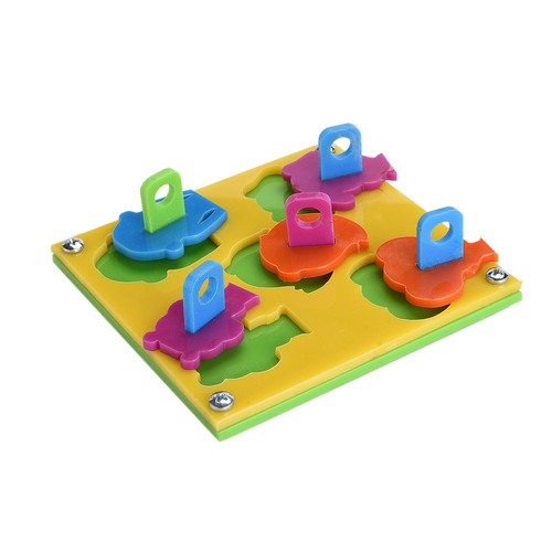 Educational Puzzle Board Toy for Parrots