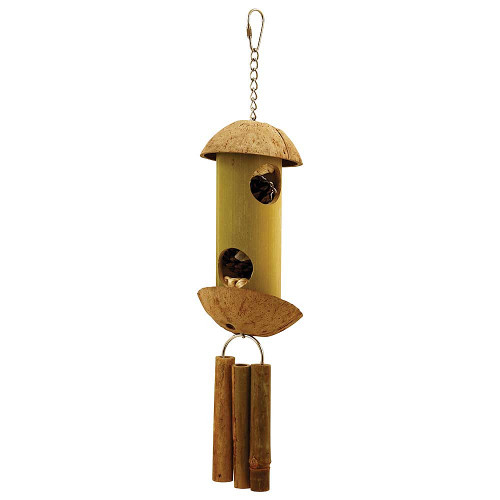 Pine Cone Lantern Natural Parrot Toy - Medium