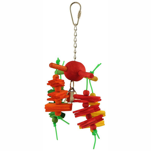 Carousel Chew Wood & Rope Parrot Toy - Small