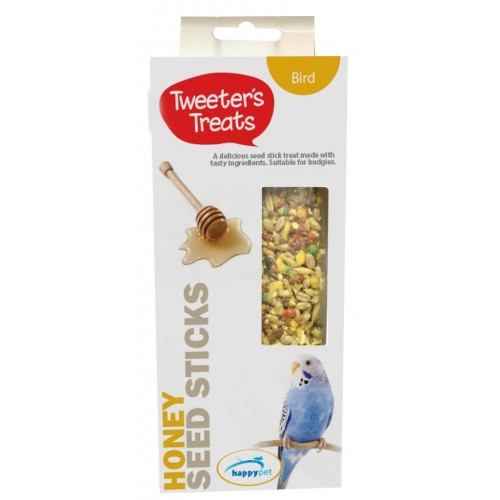 Tweeter's Seed Sticks Budgie Treat - Honey