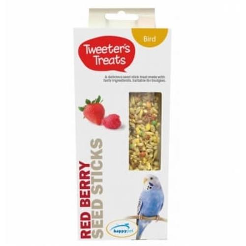 Tweeter's Seed Sticks Budgie Treat - Red Berry