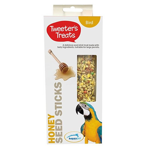 Tweeter's Treats Seed Sticks For Parrots - Honey