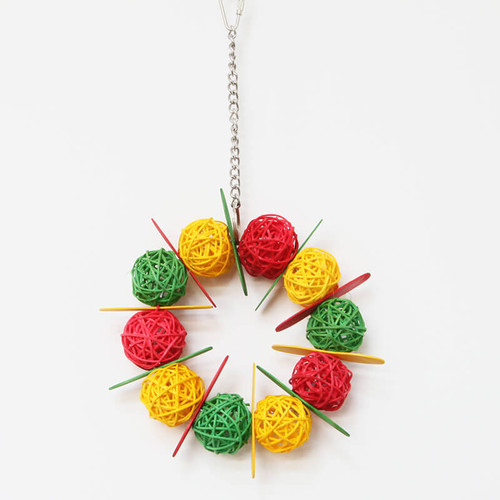 Vine Ball Braided Ring Parrot Toy
