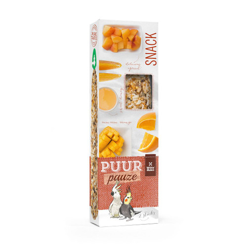 PUUR Cockatiel & Cockatoo Treat Sticks Twinpack - Fruit & Honey