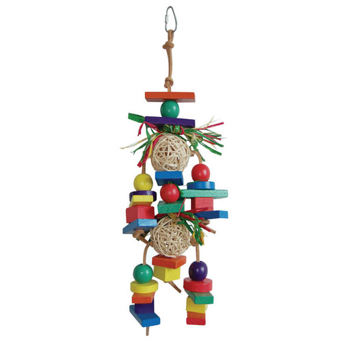 Rainbow Chew & Preen Natural Vine Parrot Toy