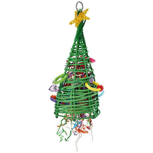Vine Christmas Tree Parrot Toy