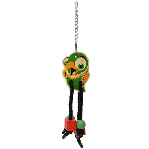 Parrot Wooden Chew & Shred Dangler Toy