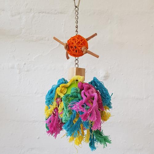 Pom-Pom Wiffle Parrot Toy