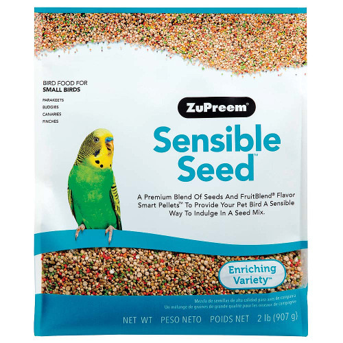 ZuPreem Sensible Seed with Smart Pellets for Small Parrots