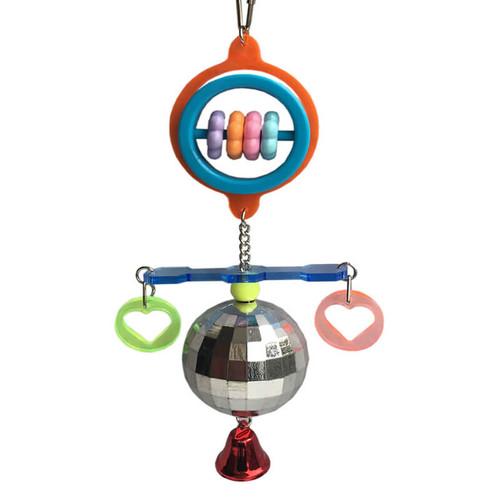 Disco Ball Enrichment Parrot Toy