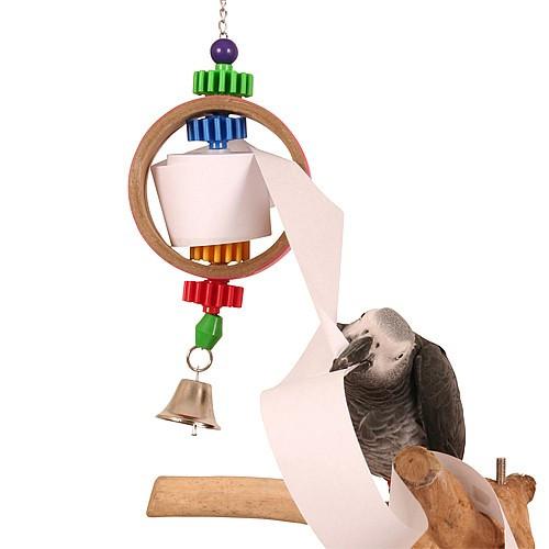Paper Dispenser Shreddable Parrot Toy - Large