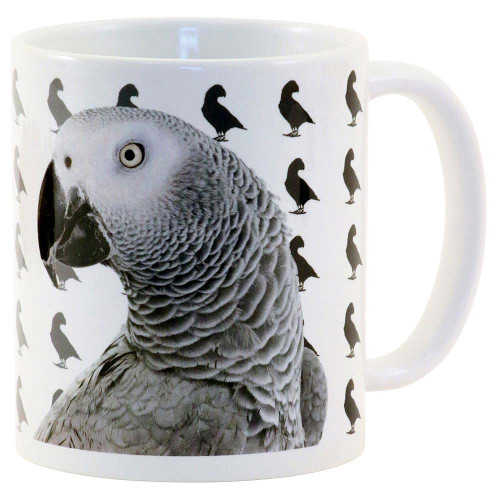 Shades Of African Grey Parrot Mug