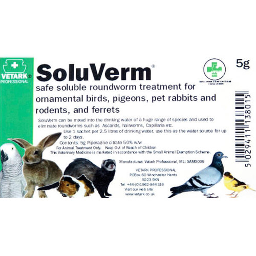 SoluVerm 5g Bird Worming Treatment
