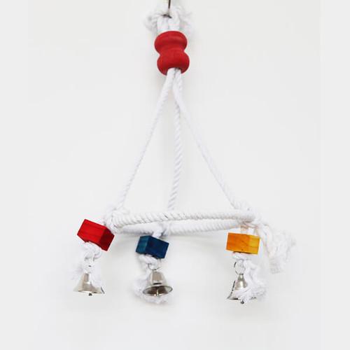 Cotton Balancer Parrot Swing with Bells - Medium
