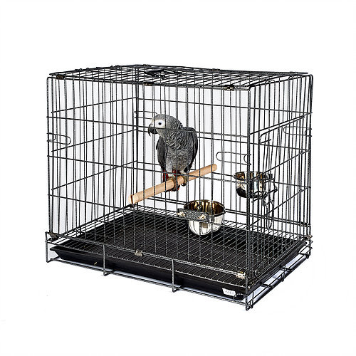 Large Parrot & Bird Travel Cage Antique