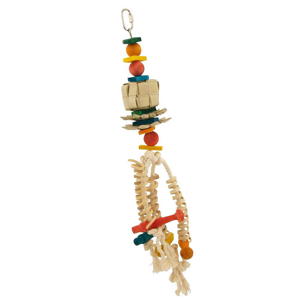 Lotus flower natural parrot toy mightylinksfo
