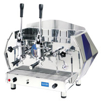 La Pavoni Diamante Lever Commercial Espresso Machine (Red or Blue) - 2 or 3 Group