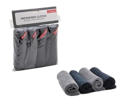 Micro-fibre Cloths-2 Gray & 2 Black