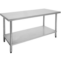 1800-7-WB Economic 304 Grade Stainless Steel Table 1800x700x900