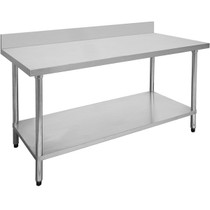 1500-7-WBB Economic 304 Grade Stainless Steel Table with splashback 1500x700x900