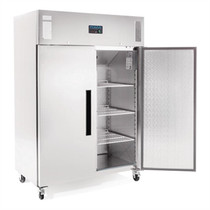 Polar 2 Door Upright Freezer 1200Ltr Stainless Steel
