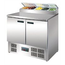 G604-A Polar 2 Door Salad and Pizza Prep Counter Stainless Steel