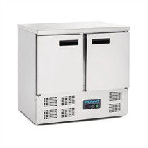 Polar 2 Door Counter Fridge 240Ltr Stainless Steel U636-A