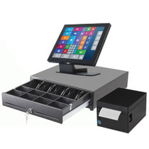 "Commercial POS System Touchscreen Professional 15"" Yuno Aures"